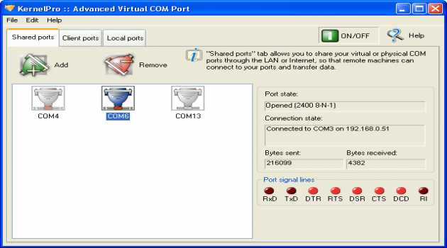Advanced Virtual COM Port