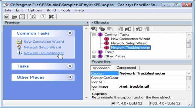 Coalesys PanelBar for JSP