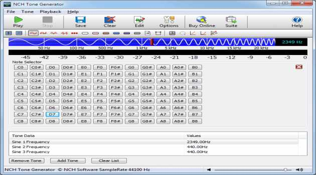 Tone Generator Free Sound Software