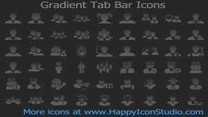 Gradient Tab Bar Icons