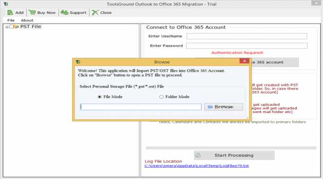 ToolsGround Outlook to Office 365