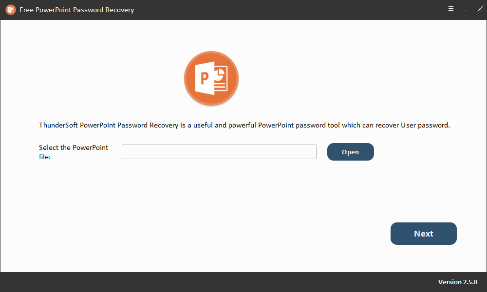 Free PowerPoint Password Recovery