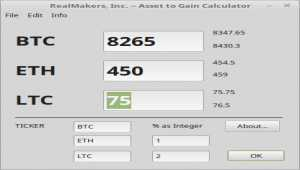 Asset to Gain Calculator
