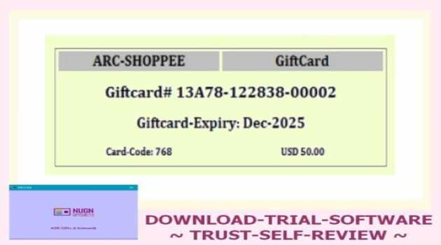 NUGN Giftcard Software