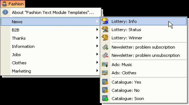 Templates for Fashion Helpdesk texts