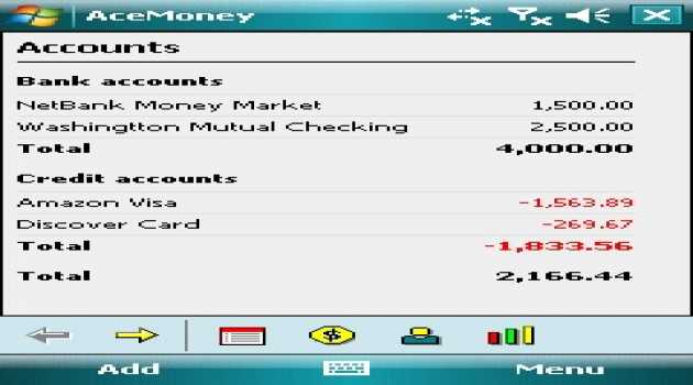AceMoney for Pocket PC