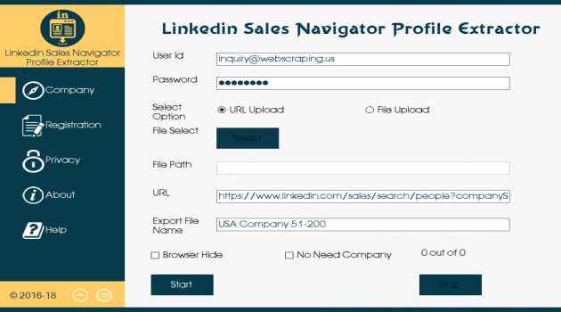 Sales Navigator Extractor For Linkedin