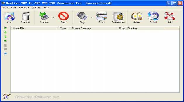 NewLive  Wmv to AVI VCD DVD Converter