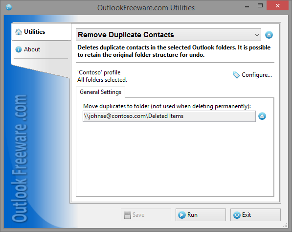 Remove Duplicate Contacts for Outlook