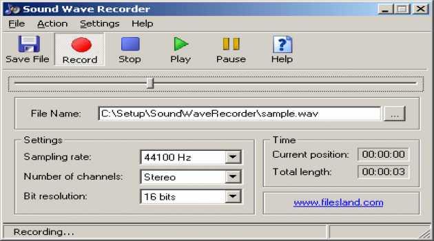 Sound Wave Recorder