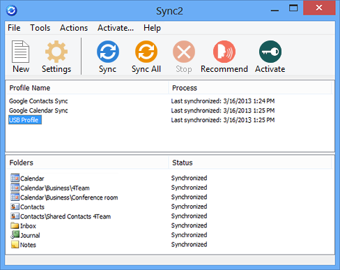 Sync2 for Outlook