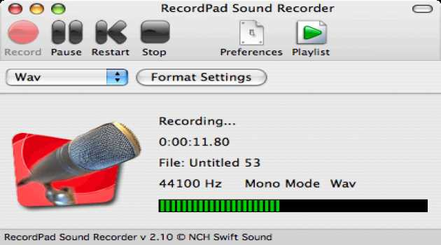 RecordPad Sound Recorder Pro for Mac