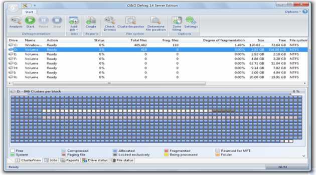 O&O Defrag 14 Server Edition