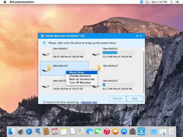 Hasleo BitLocker Anywhere For Mac