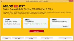 MBOX to PST Tool