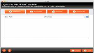 Cigati MBOX To PST Converter For Mac