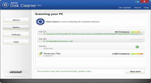 Simnet Disk Cleaner 2011