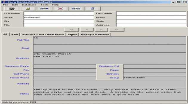 Java Contactor - Windows edition