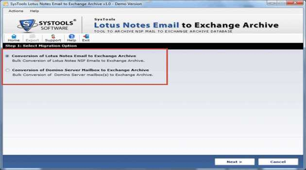 Lotus Notes Emails to Exchange Archive