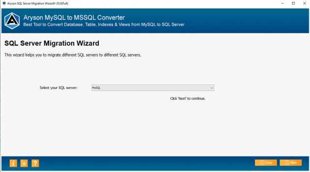 Aryson MySQL to MSSQL Converter