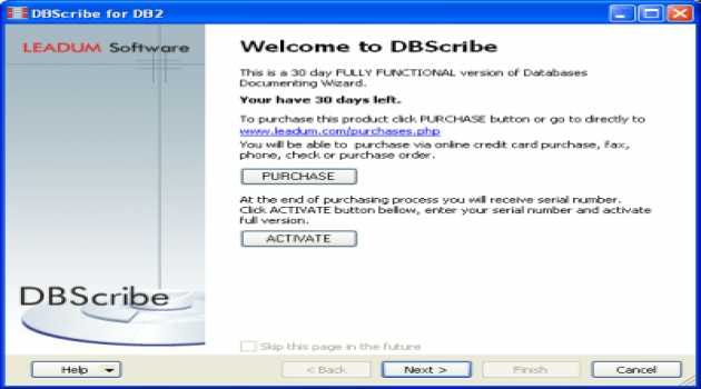 DBScribe for DB2