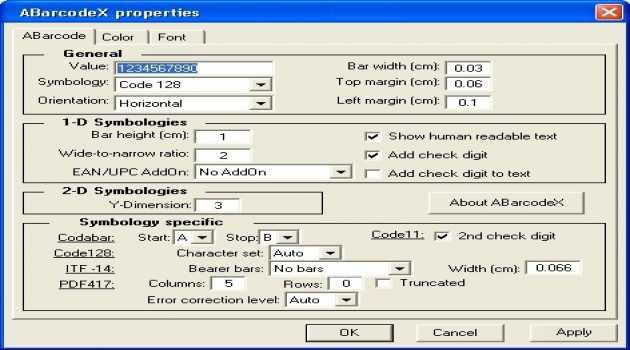 ABarcode ActiveX