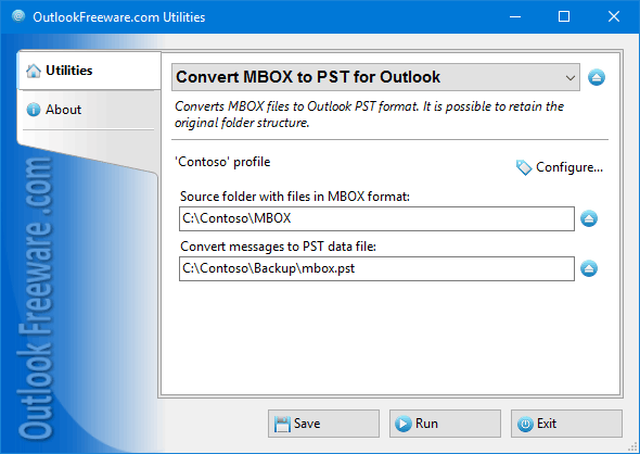Convert MBOX to PST for Outlook