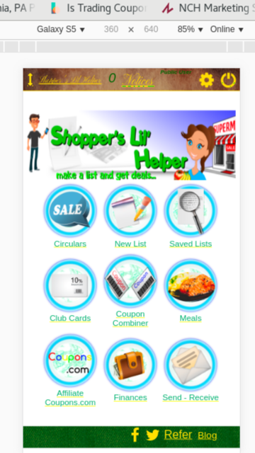 Shopper's Lil' Helper Android App