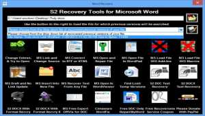 S2 Recovery Tools for Microsoft Word