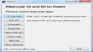 J4L RBarcode for Delphi