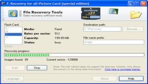F-Recovery for xD-Picture Card