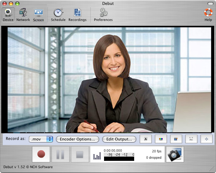 Debut Free Mac Screen and Video Recorder