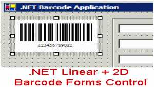.NET Linear + 2D Barcode Forms Control