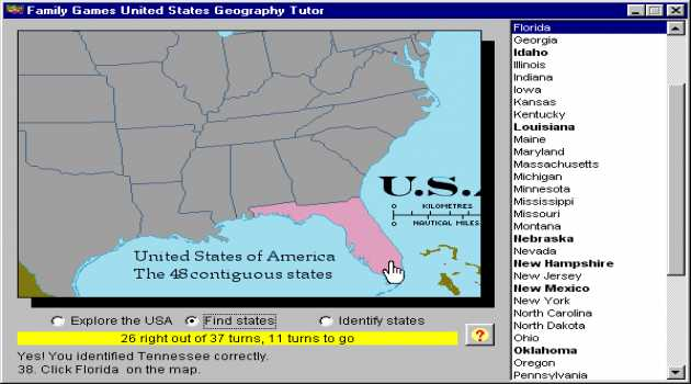 United States Geography Tutor