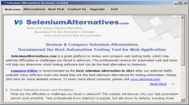 Selenium Alternatives Reviewer