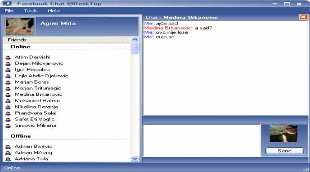 Chat DeskTop for Facebook