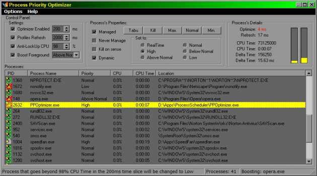 Process Priority Optimizer