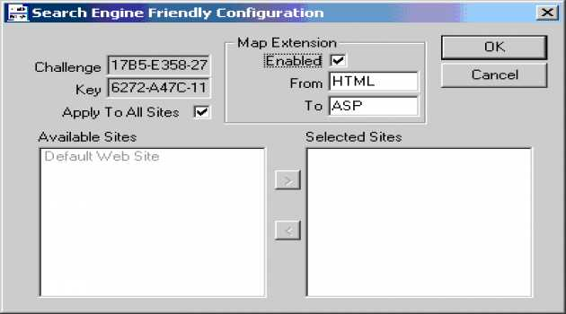 Search Engine Friendly ISAPI Filter
