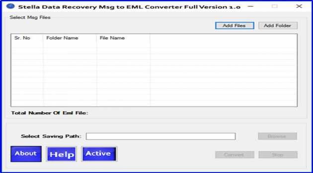 Stella MSG to EML Converter software