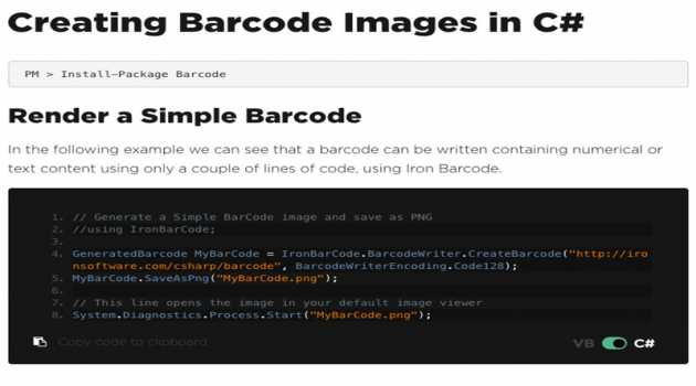 Generate Barcode Images in C#