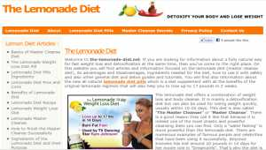 The Lemonade Diet Recipes and Info