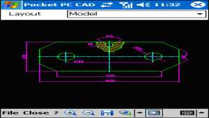 Pocket PC CAD Viewer: DWG, DXF, PLT