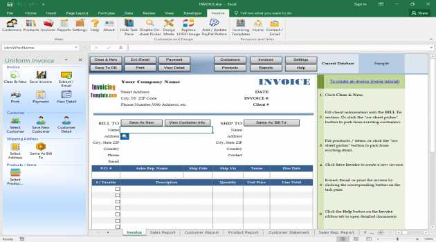 Invoice Manager for Excel