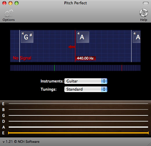 PitchPerfect Guitar Tuner for Mac