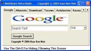 A WebShare Meta Finder