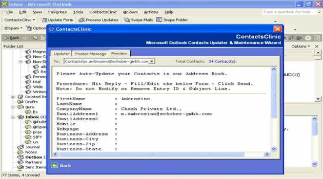 Contacts Clinic for Microsoft Outlook