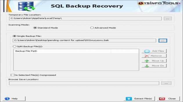 SQL Backup Repair