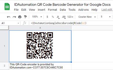 Sheets QR Code Script for Google