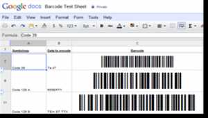 Sheets 2D Barcode Generator for Google
