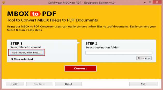 Save MBOX Mails to PDF